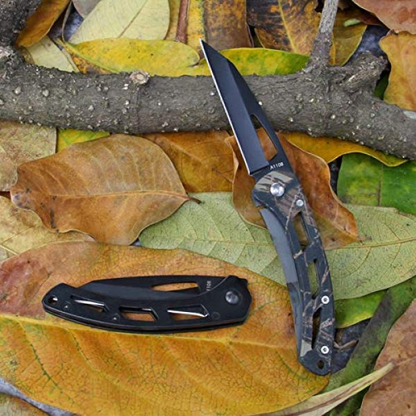 BYKCO Folding Survival Knife 7 BYKCO EDC Keychain Folding Pocket Knife, Everyday Carry Minimalist Compact Pocket Knives for Men Women Kids Outdoor Camping Hiking Fishing Anti-Rust Stainless Steel Material