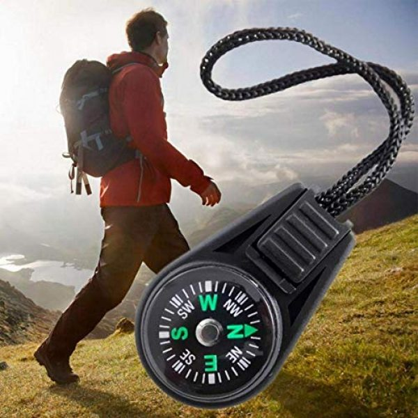 SPY SEE OPEN YOUR EYES Survival Compass 5 SPYSEE Mini Survival Compass Pack of 20 - Outdoor Camping Hiking Pocket Compass Liquid Filled Mini Compass for Paracord Bracelet Necklace Key Chain