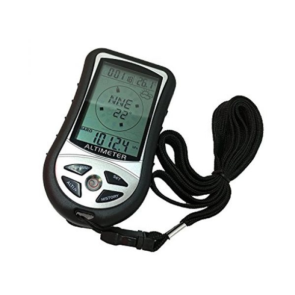 SUNDERPOWER Survival Compass 3 SUNDERPOWER 8 in 1 Digital Multifunction LCD Compass Altimeter Barometer Thermometer
