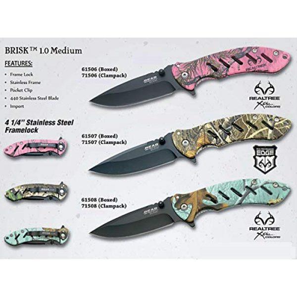 """Bear Edge Folding Survival Knife 5 Bear Edge 4 1/4"""" Predator Series Brisk 1.0 Frame Lock Folder Knife"""