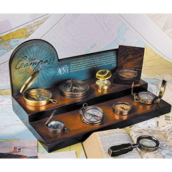 Authentic Models Survival Compass 3 Authentic Models, 18th C. Sundial & Compass - Aged Finish in Hand-Buffed Duotone