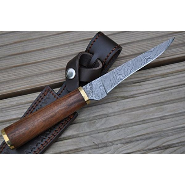 Perkin Fixed Blade Survival Knife 6 Perkin Knives - Custom Handmade Damascus Hunting Knife - Beautiful Boning Knife