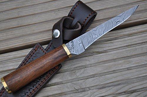 Perkin Knives  6 Perkin Knives - Custom Handmade Damascus Hunting Knife - Beautiful Boning Knife