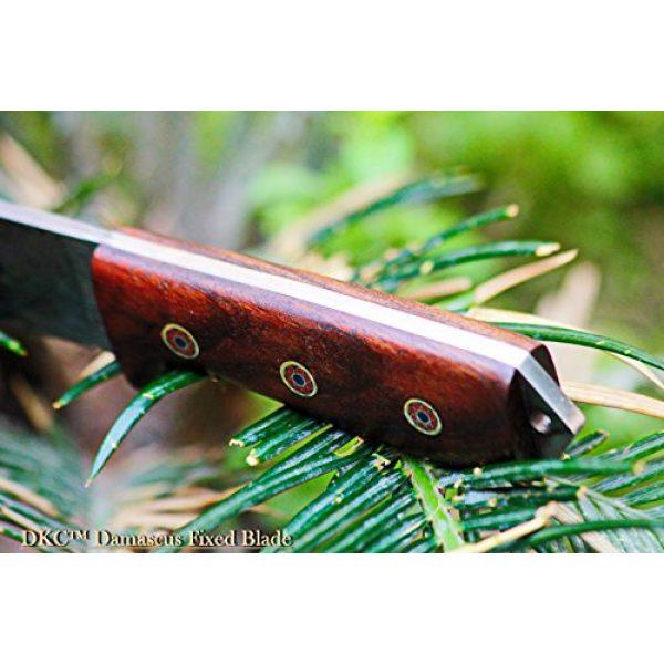 "DKC Knives Fixed Blade Survival Knife 6 Sale (33 5/18) DKC-73 Survival 1 Damascus Hunting Knife 8"" Long 4"" Blade 5.4 oz ! Walnut Handle"