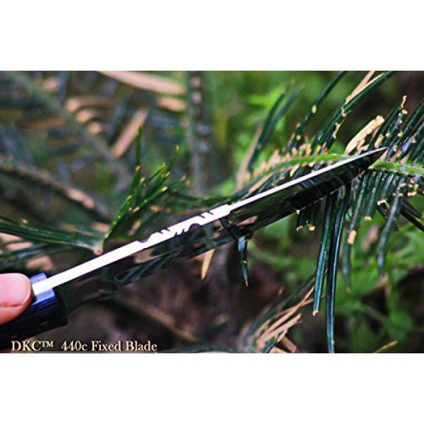 "DKC Knives Fixed Blade Survival Knife 6 (2 6/18) DKC-521-HT-440c Blue Moon Hunter 440c Stainless Steel Hunting Handmade Knife Fixed Blade 7 oz 9"" Long"