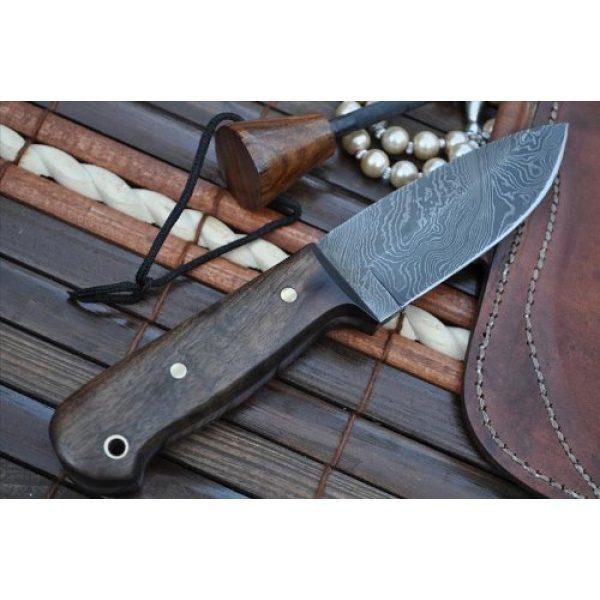 Perkin Fixed Blade Survival Knife 3 Sale - Custom Handmade Damascus Hunting Knife Beautiful Bushcraft Knife with Sheath and Knife Sharpener