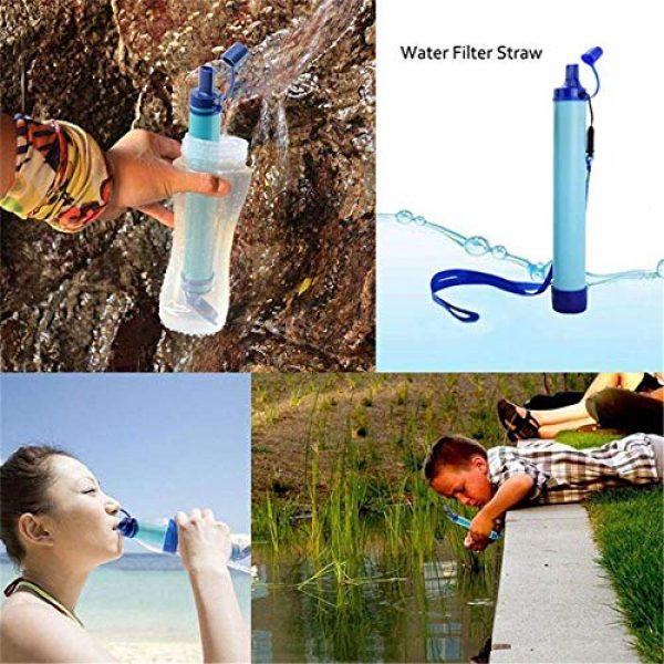 Anna's Bridal Survival Water Filter 6 Anna's Bridal Straw Water Filter, Hiking Water Purifier, Camping Straw Filter for Backpacking,Outdoor Water Filtration System Survival Gear for Camping Hiking Climbing and Emergency
