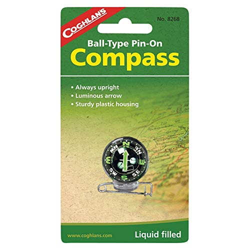 Coghlan's Survival Compass 2 Coghlan's 8268 Pin-On Compass Set of 2