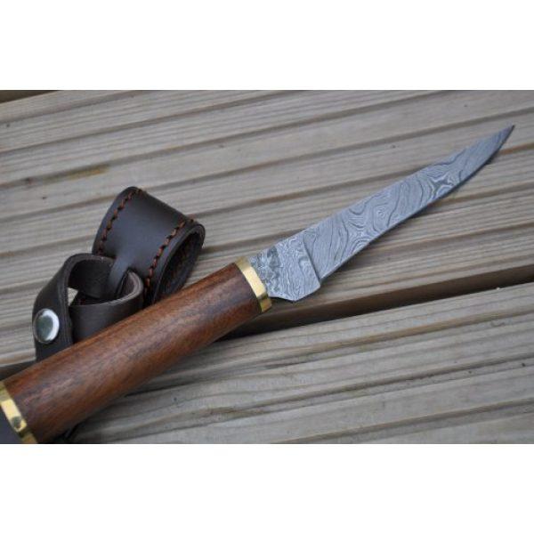 Perkin Fixed Blade Survival Knife 4 Perkin Knives - Custom Handmade Damascus Hunting Knife - Beautiful Boning Knife