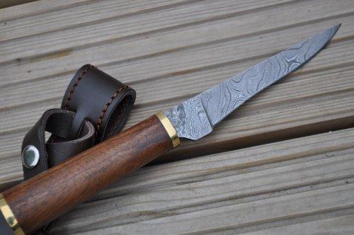 Perkin Knives  4 Perkin Knives - Custom Handmade Damascus Hunting Knife - Beautiful Boning Knife
