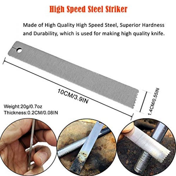 BSGB Survival Fire Starter 2 BSGB 2PCS HSS High Speed Steel Striker with Mini Keychain for Ferro Rod Fire Starter