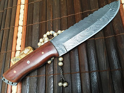 Perkin  3 Perkin - Handmade Damascus Hunting Knife with Sheath