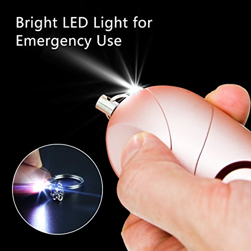 130 dB Emergency Self Defense Personal Alarm Keychain with LED Light for Women
