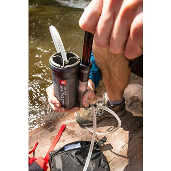Katadyn Survival Water Filter 3 Katadyn Hiker Pro Transparent Water Filter, Lightweight, Compact Design for Personal or Small Group Camping, Backpacking or Emergency Preparedness
