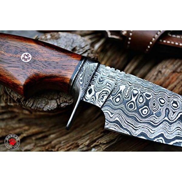 Bobcat Knives Fixed Blade Survival Knife 3 Bobcat Knives Custom Handmade Hunting Knife Bowie Knife Damascus Steel Survival Knife EDC 10'' Overall Walnut Wood with Sheath