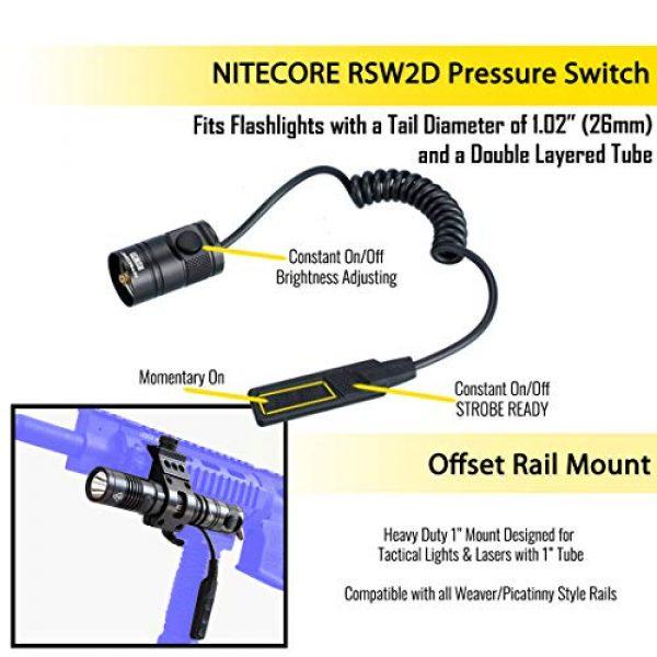 Nitecore Survival Flashlight 2 Nitecore MH12GTS 1800 Lumen USB Rechargeable Tactical Flashlight RSW2D Pressure Switch and LumenTac Offset Mount