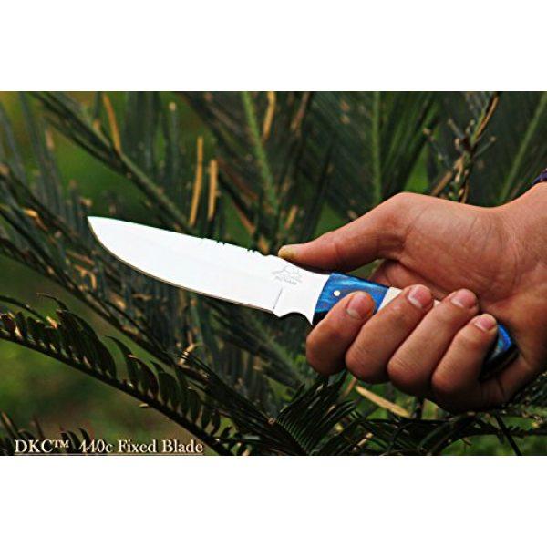 "DKC Knives Fixed Blade Survival Knife 5 (2 6/18) DKC-521-HT-440c Blue Moon Hunter 440c Stainless Steel Hunting Handmade Knife Fixed Blade 7 oz 9"" Long"