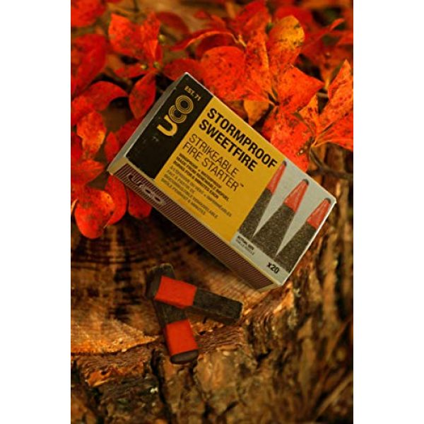 UCO Survival Fire Starter 2 UCO Stormproof Sweetfire Strikeable Firestarters PK20