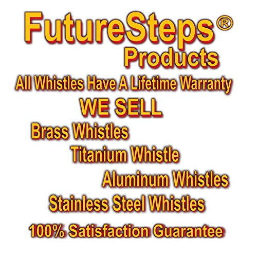 FUTURESTEPS  6 FUTURESTEPS Emergency EDC Whistle   Survival Whistle   Light Air Flow Needed for High Pitched Sound   Very Loud Whistle 105 DECIBELS   Light Gray Titanium   ONE Piece