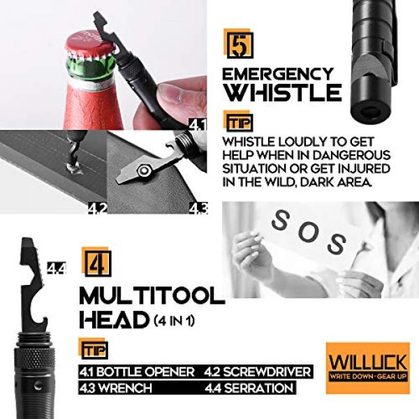 WILLUCK Survival Flashlight 5 Gifts for Dad Men Husband,Tactical Pen,LED Tactical Flashlight,Cool & Unique Anniversary Birthday Gifts Ideas For Him Boyfriend,Gift Box(2020 UPGRADE)
