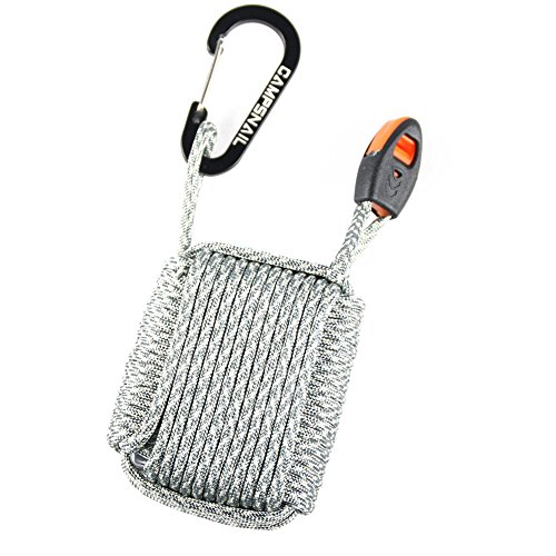 CAMPSNAIL  2 CAMPSNAIL Emergency Survival Kit Grenade - 25 Accessories First Aid Kit Survival Wrapped in 550 lb Paracord Survival Grenade Cord for Emergencies