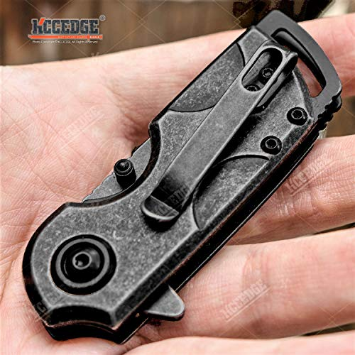 KCCEDGE BEST CUTLERY SOURCE  4 KCCEDGE BEST CUTLERY SOURCE Pocket Knife Camping Accessories Survival Kit 5 1/4 Inch Razor Sharp Tactical Knife Hunting Knife Camping Gear 78364