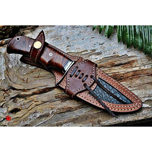 Bobcat Knives Fixed Blade Survival Knife 5 Bobcat Knives Custom Handmade Hunting Knife Bear Hunter Damascus Steel Overall 10''
