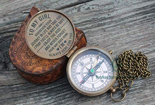 Roorkee Instruments India Survival Compass 2 To my daughter/Gift for daughter from Dad/Gift to daughter from Mom/Engraved, Personalized gift for my daughter/Gift to daughter/Father Mother gift idea for daughter Christmas, Xmas, birthday, weeding