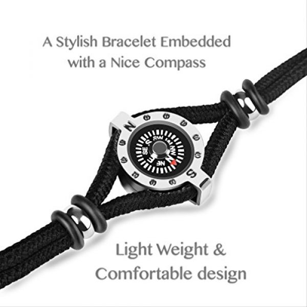 DAYHAO Survival Compass 2 DAYHAO Novelty Birthday Gift for Outdoor Enthusiast! Stylish & Practical, Quality Compass Bracelet, Luxurious Packaging, Paracord Bracelet for Hiking, Camping, Backpacking, Outdoorsman, Camper, Hiker