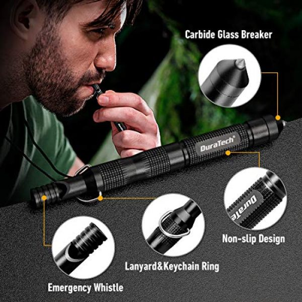 DURATECH Folding Survival Knife 5 DURATECH Gifts for Men Dad Fathers Day Tactical Folding Knife, Multitool Combo Kit, Tactical Pen, Utility Survival Tools for Camping, Hiking, Hunting and Fishing