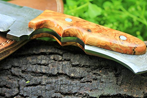 """DKC Knives  4 DKC Knives (17 5/18) Sale DKC-85 Tomcat Damascus Skinner Hunting Knife 9"""" Long 4.5"""" Blade 11.2oz High Class Looks Incredible Feels Great in Your Hand and Pocket Hand Made"""