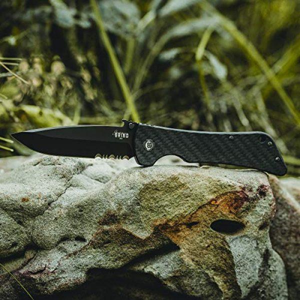 Southern Grind Folding Survival Knife 5 Southern Grind Bad Monkey Folding Knife w/Emerson Drop Point Blade.