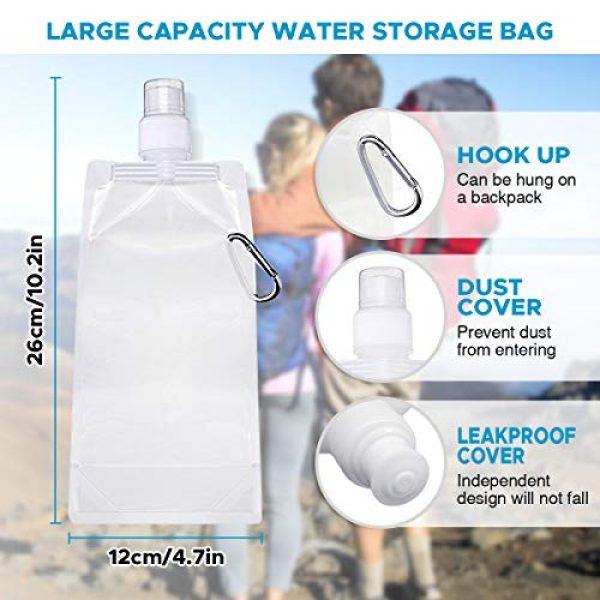 SGODDE Survival Water Filter 6 SGODDE Gravity Water Filter Straw Ultralight Versatile Hiker Water Filter Optional Accessories. Hurricane Storm or Flood Risk Supplies Emergency Kit