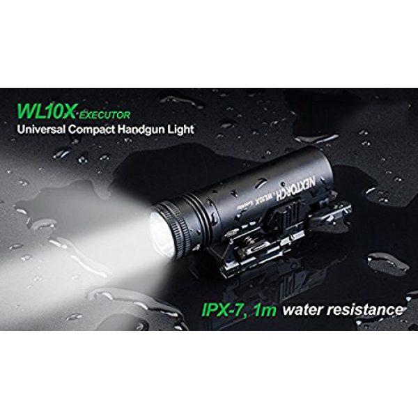 NEXTORCH Survival Flashlight 7 NEXTORCH 230 Lumen WL10X Executor Ultra Bright Lightweight LED Weapon Light, Attach Mount Upgraded