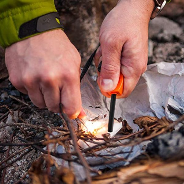 Alona Magic Survival Fire Starter 2 Alona Magic Fire Starter with Emergency Whistle, Portable Case for Emergency Survival Kits, Camping, Hiking, All-Weather Magnesium Ferro Rod