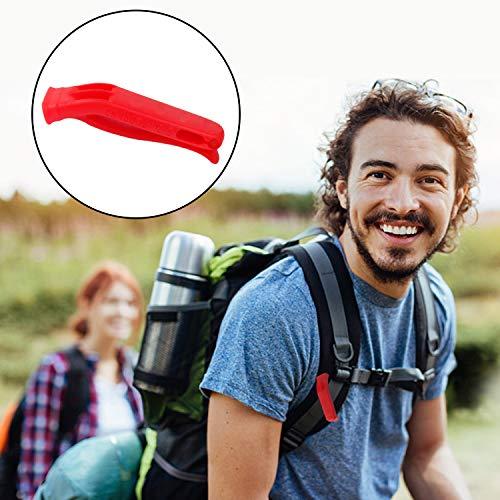 Augsun  3 Augsun 10 Pcs Emergency Safety Whistle Plastic Whistles Set with Lanyard