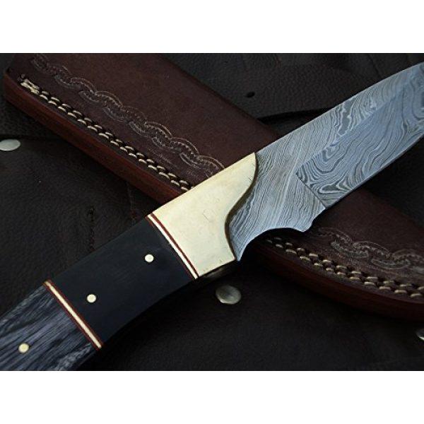 "DKC Knives Fixed Blade Survival Knife 7 DKC Knives (9 7/18) Sale DKC-714 Black Widow Damascus Steel Hunting Handmade Knife Fixed Blade 8.5 oz 9"" Long 4"" Blade"
