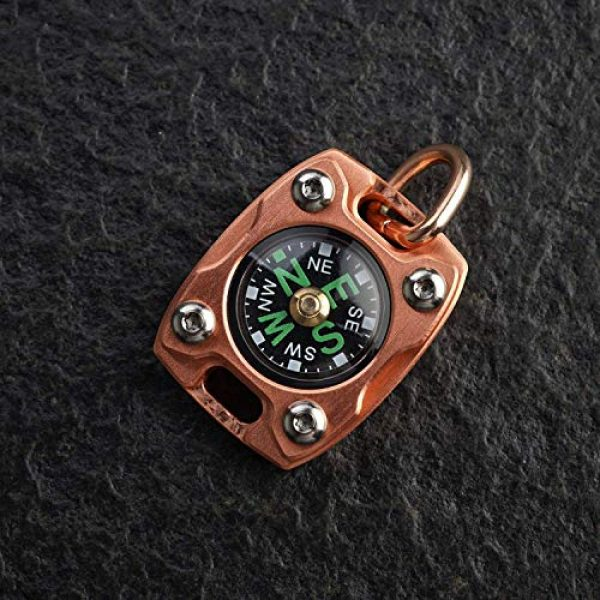 MecArmy Survival Compass 4 MecArmy CMP2-T High Sensitivity EDC Compass, Mechanical Instrument Inspired Design with Exquisite Engrave, Fluorescence Glow in The Dark Free Beaded Chain Worn as a Pendant