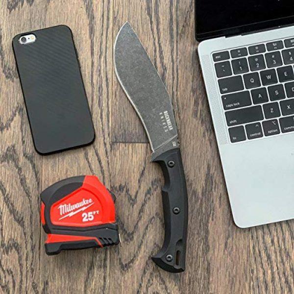 BUCKNBEAR KNIVES Fixed Blade Survival Knife 4 BucknBear Custom Handmade D2 Steel Fixed Blade Kukri Tactical Survival Knife (G10 Handle)