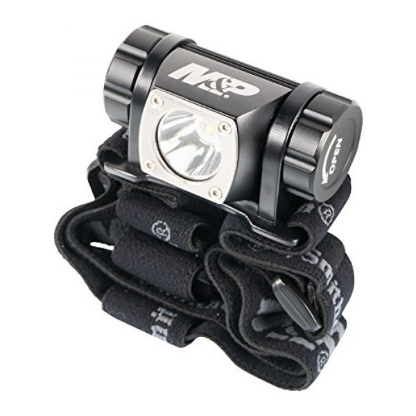 Smith & Wesson Survival Flashlight 5 Smith & Wesson M&P Delta Force HL 3xAAA 430 Lumen Headlamp with 6 Modes, Waterproof Construction and Memory Retention for Survival, Hunting and Outdoor, Blue