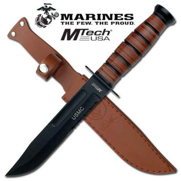 MTECH USA Fixed Blade Survival Knife 2 MTECH USA Mt-122Mr Fixed Blade Knife, 12-Inch Overall