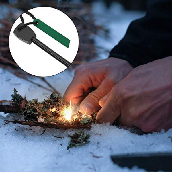 Mudder Survival Fire Starter 6 3 Pieces Fire Starter with Magnesium Flint Fire Steel Striker Rod for Emergency, Waterproof Survival Fire Starter Compact Durable Tool for Bushcraft Camping Backpacking Hiking Hunting or Bug Out Bag