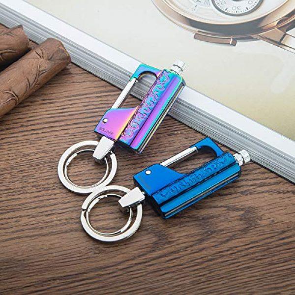 BOLLAER Survival Fire Starter 7 BOLLAER Outdoor Emergency Fire Starter Flint Match Lighter Keychain, Flint Metal Matchstick Fire Starter with Keychain for Camping Hiking Best Gift