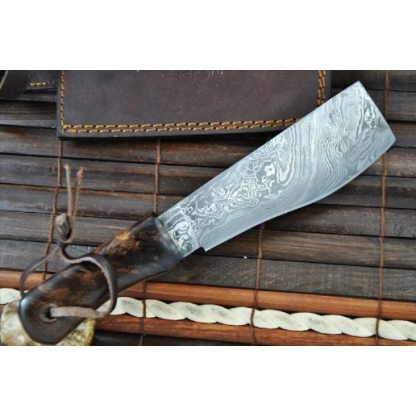 Perkin Fixed Blade Survival Knife 5 Perkin Knives - Damascus Steel Knife - Hunting Knife - Machete
