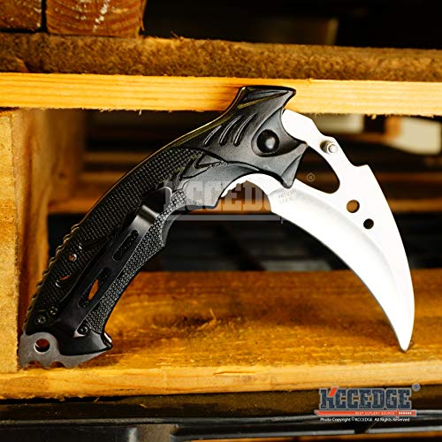 KCCEDGE BEST CUTLERY SOURCE  5 KCCEDGE BEST CUTLERY SOURCE EDC Pocket Knife Camping Accessories Razor Sharp Edge Karambit Folding Knife Camping Gear Survival Kit 56652