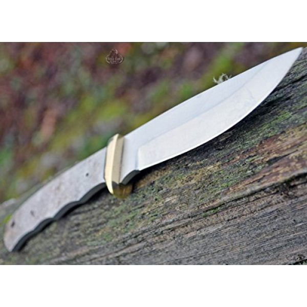 Whole Earth Supply Fixed Blade Survival Knife 4 Whole Earth Supply (Set of 2) Drop Point Knives Knife Blades Blanks Hunting Blank Blade Hunter Making Parts BL7702