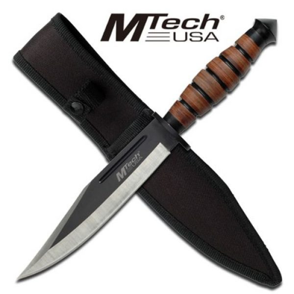 MTECH USA Fixed Blade Survival Knife 3 MTECH USA MT-20-19C Fixed Blade Knife 12.5-Inch Overall