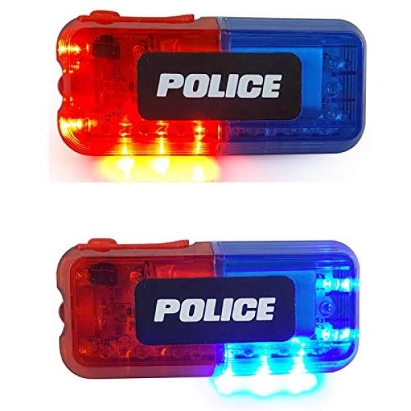 AooYu Survival Flashlight 2 Police LED flashing warning shoulder light safety clip lamp with flashlight lighting function for Outdoor rescue,traffic guidance,Security patrols,cycling,Night run and more application scenarios