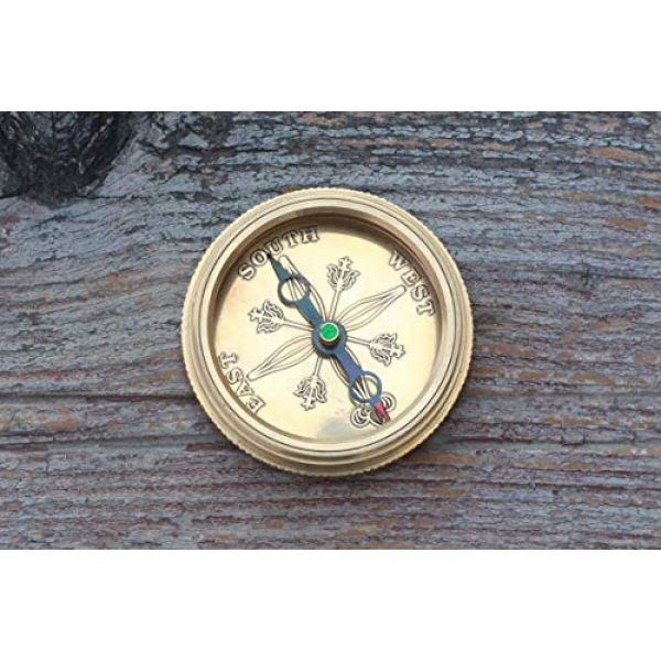 Roorkee Instruments India Survival Compass 4 I Would be Lost Without You Compass with Case/Gift for Love/Valentine's Day Gift