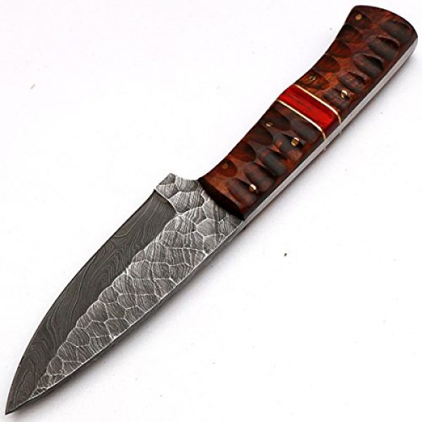 """PAL 2000 Fixed Blade Survival Knife 6 PAL 2000 """"8670"""" Damascus Steel Knife - Damascus Knife with Leather Sheath"""